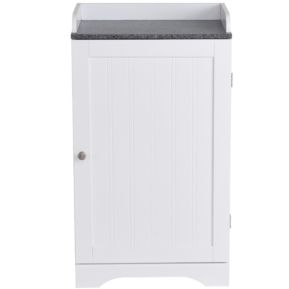 Myeasyshopping white wood bathroom freestanding storage cabinet w single door storage cabinet freestanding free standing