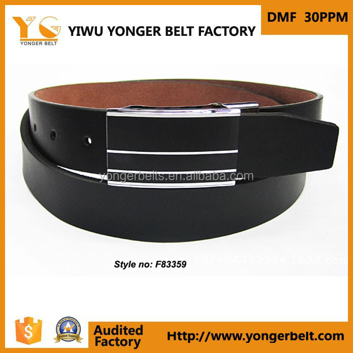 Factory sell automatic buckle PU leather belt men