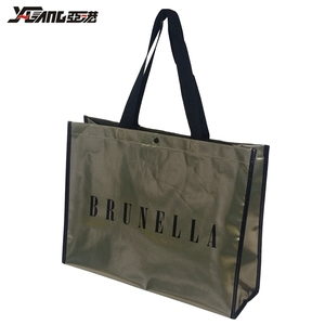 China manufacturer customize promotional non woven shopping gift tote bag with lamination