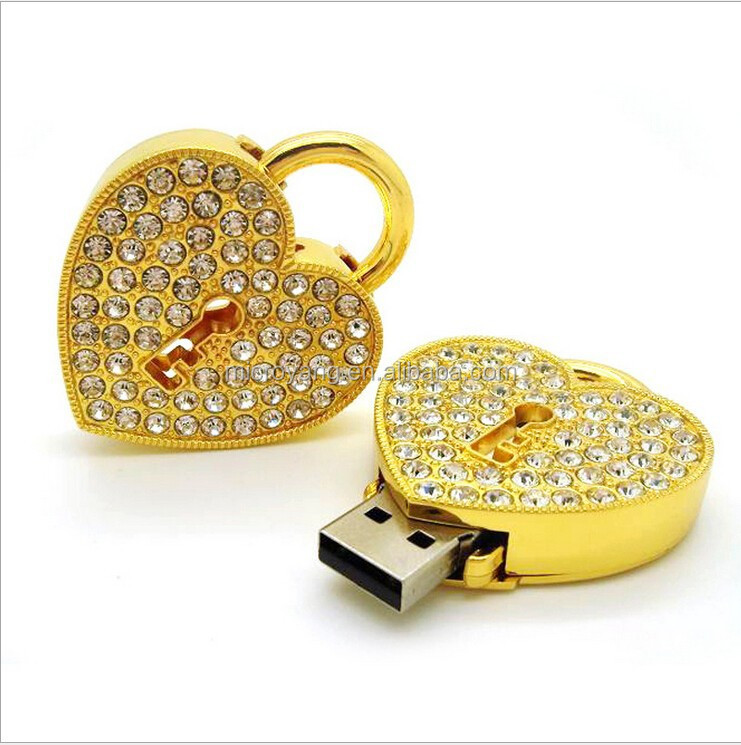 fashion jewel usb flash drive,High quality heart shape usb flash drives,luxury jewelry usb