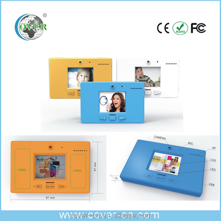 Video message recorder for gifts/Fridge Magnet message/LCD Digital Video Memo Recorder