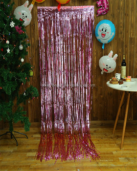 3X8FT Hanging Metallic Gold Foil Fringe Curtain Backdrop Curtains