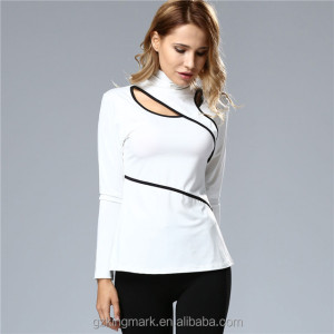 Hot Sale Women Autumn High collar White Blouse Cheap