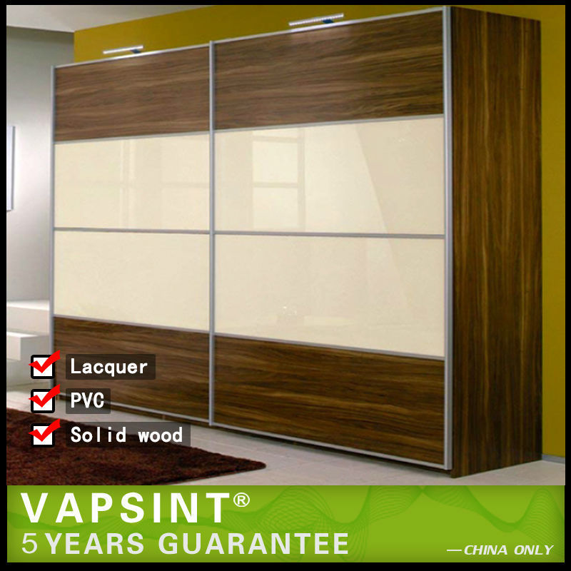 New model double color wardrobe design furniture bedroom