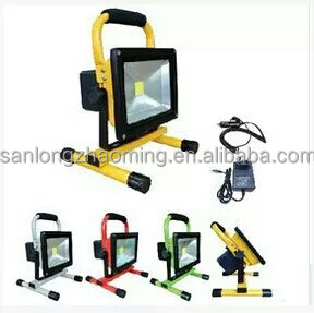 led rechargeable flood light water proof IP54 10W 20W 30W 50W up to 8 hours working time cob epistar chip