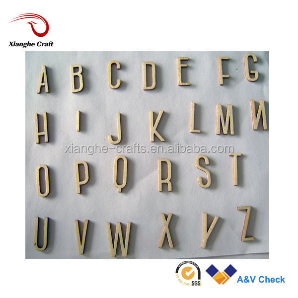 Small wood letter decorative wooden alphabet for crafts for Small wooden letters for crafts