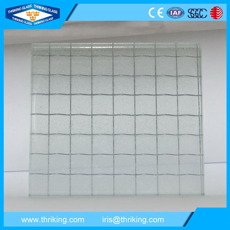 Clear Or Colored Wire Reinforced Glass For Building Walls - Buy Wire ...