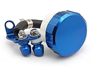 Blue Motorcycle Billet Racing CNC Front Brake Clutch Tank Master Cylinder Fluid Oil Reservoir For Suzuki GSXR750 2004-2005