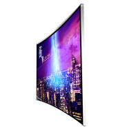 Super enjoy led display video advertising player tv curved with samsung