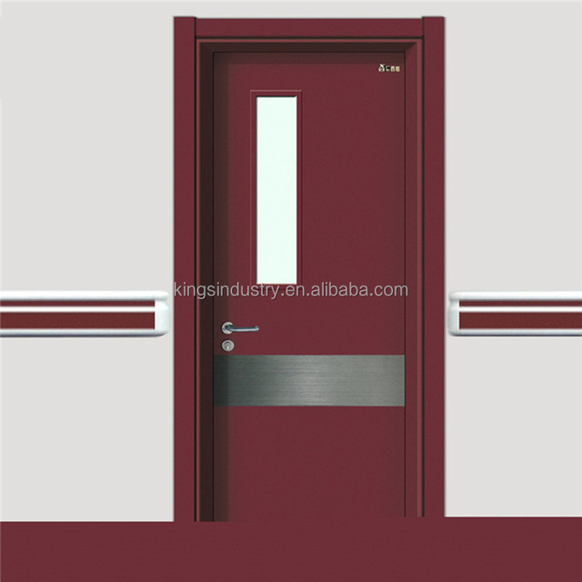 China Factory Hot Sales Hopital Door With 304 Stainless Steel Kick Plate  Lock Handle Door