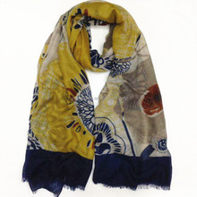 custom fashion floral printed scarf for women wholesale