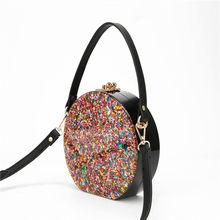 2018 цветные акриловые клатчи в коробке, женские клатчи через плечо, женские модные блестящие клатчи с клапаном, красивые акриловые сумки(Китай)