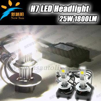 H7 25w Car Led Headlight C Ree Chip H7 Led Bulb Car 4x4 12v 24v ...