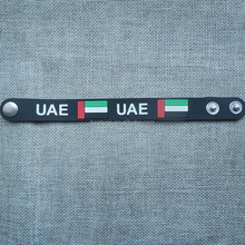Weich-pvc armbänder für UAE national day, <span class=keywords><strong>gummi</strong></span> armband geprägte land name und flagge
