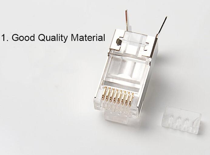 good quality zinc alloy cat7 rj45 connector 1.3MMD