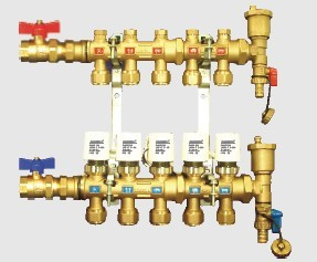 brass manifold radiant heating control
