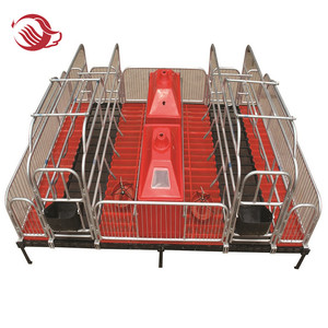 Swine farm cage pig farming breeding pen equipment of galvanized sow farrowing stall farrowing crates