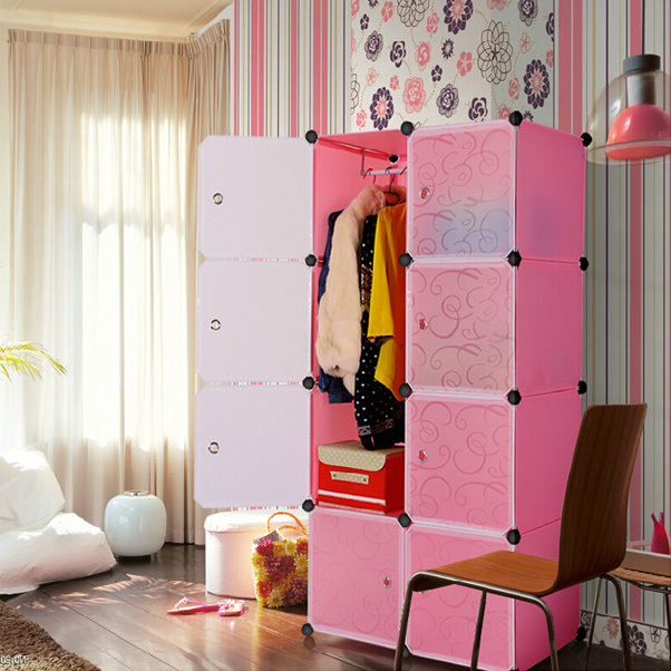 Muti Use Interlocking Diy Plastic Storage Cupboard Cabinet Unit With ...