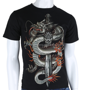 100% Cotton Customized Fashion 3D Printed T Shirt For Men