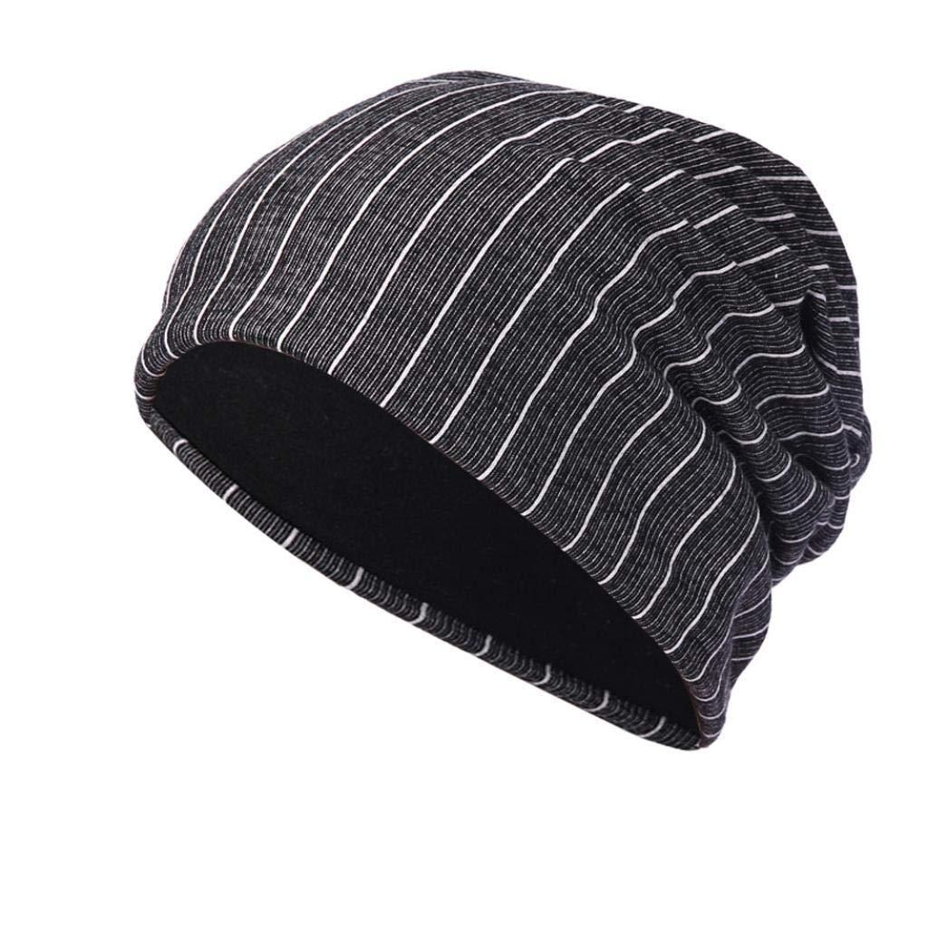 84bbef55ad0 Get Quotations · Sunny Love 2018 Unisex Stripe Warm Crochet Winter Knit Ski  Beanie Skull Slouchy Caps Ear Protector Hat