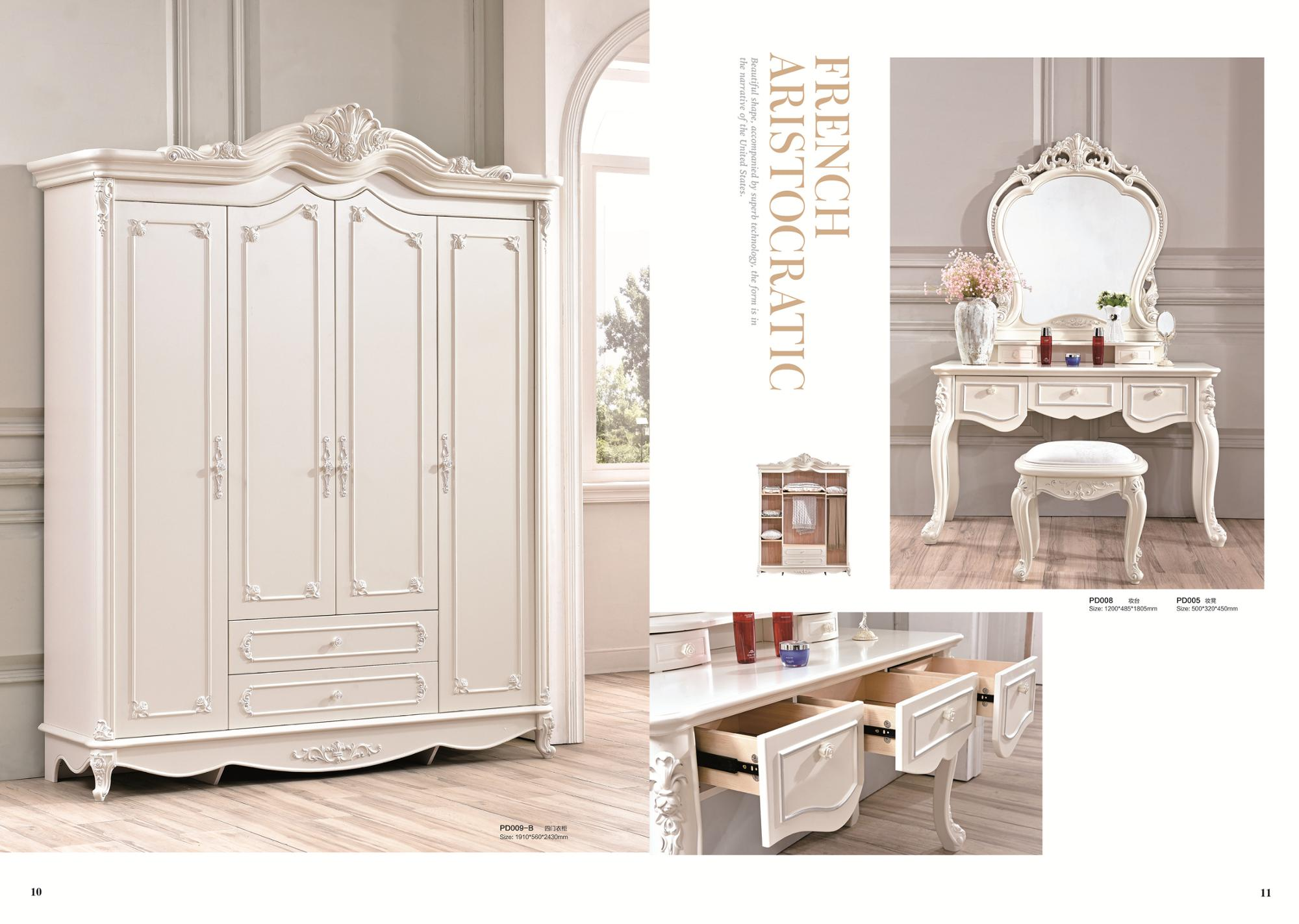 cheap price antique style king size bedroom furniture sets