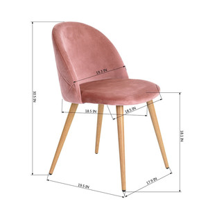 Free Sample Cheap Modern Room Furniture Wooden Velvet Fabric Dining Chair/Dining Chair Fabric