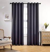 china wholesale high quality factory directly supply solid blackout fabric ready made curtain