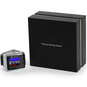 Reduce hight blood pressure and blood sugar watch,red and blue light laser therapy watch