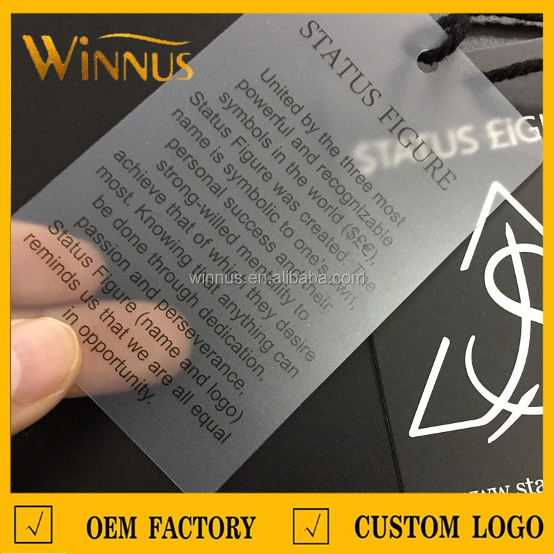 China custom design black round paper hang tags for clothing