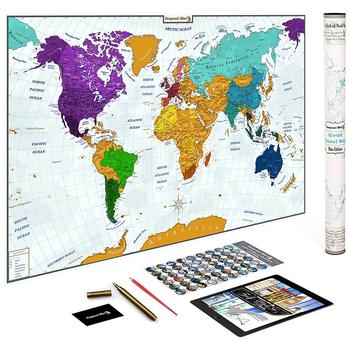 Scratch Off World Map 24x36\