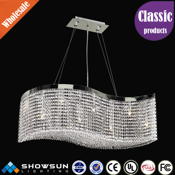 Modern bedroom chandelier lamp in chrome