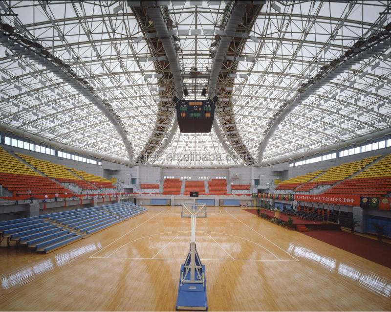 Galvanized steel prefab gymnasium with roof truss