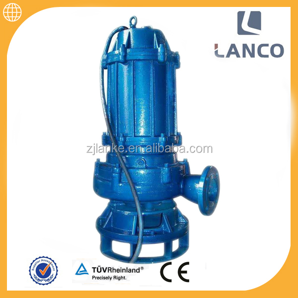 QW vertical 3 inch electric dirty water submersible pump