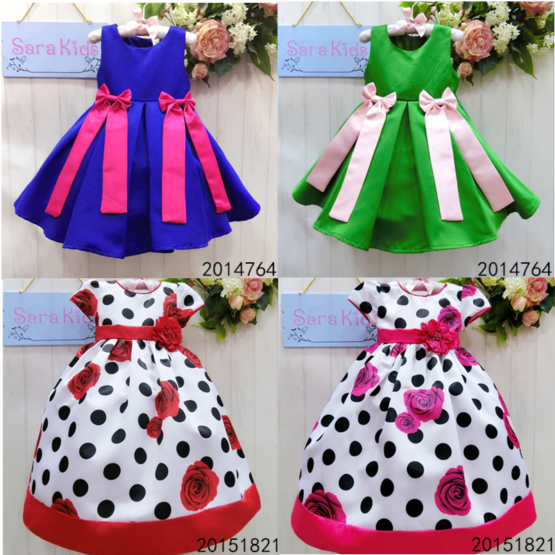 2016 Spring Children Dress Children Dress Girls Sweet Baby Dress ...