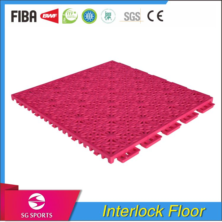Removable Easy and Quickly Installation PP Interlocking Sports Flooring for Court Badminton