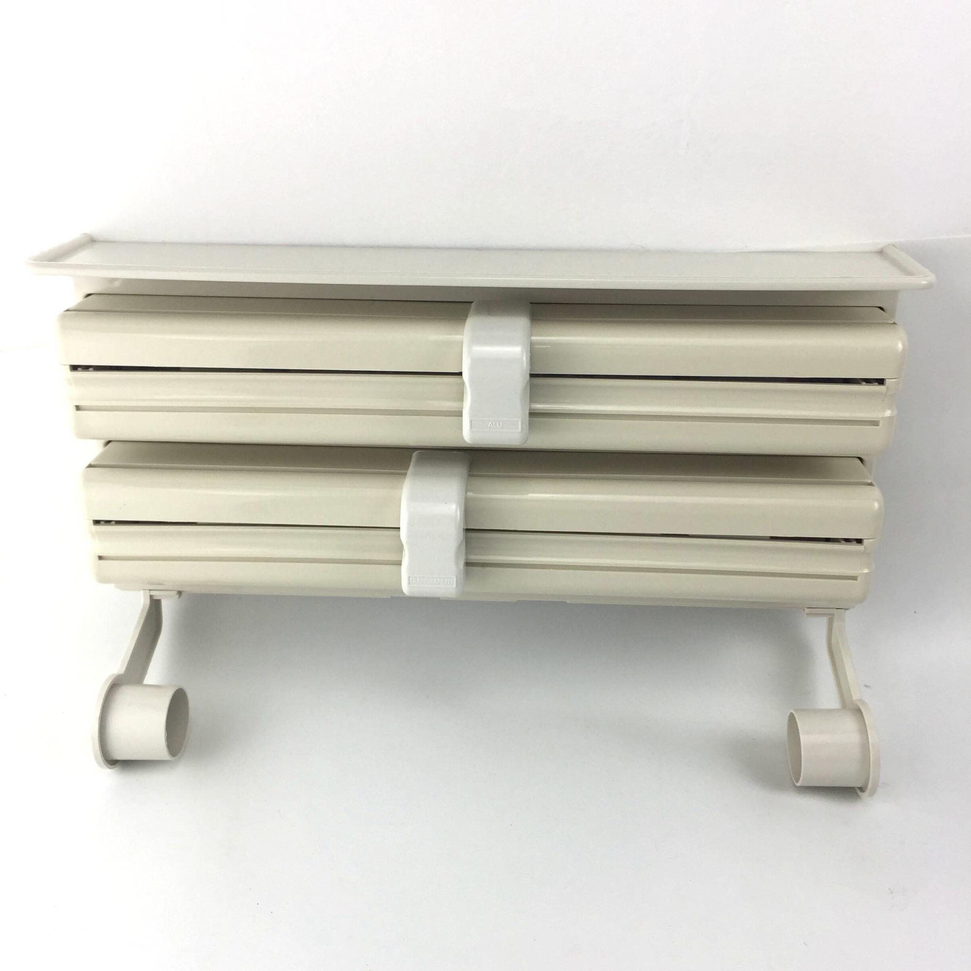 Triple dispensador de papel para cocina rollo de papel de aluminio y se aferra película de
