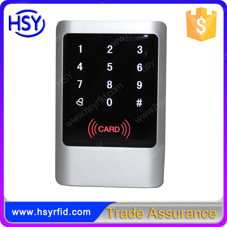 IP65 waterproof Touch keypad door access control wiegand