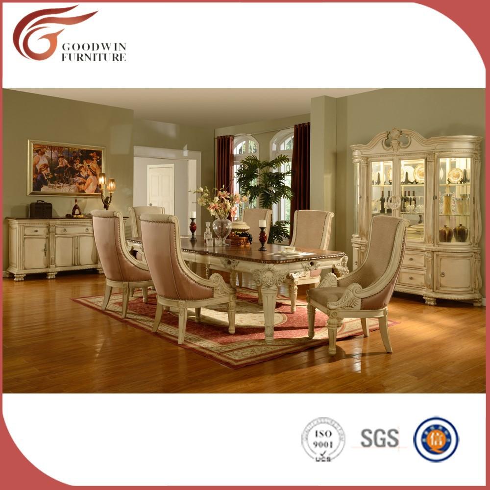 Venta al por mayor muebles de comedor blanco-Compre online ...