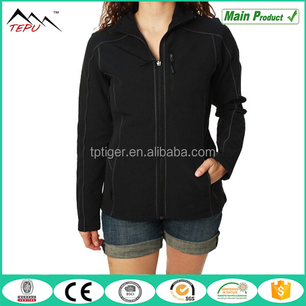 2017 Top Sales Casual Black Office Women Warm Softshell Jacket