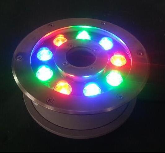 high quality RGB DMX control underwater fountain led lights with IP68 Waterproof