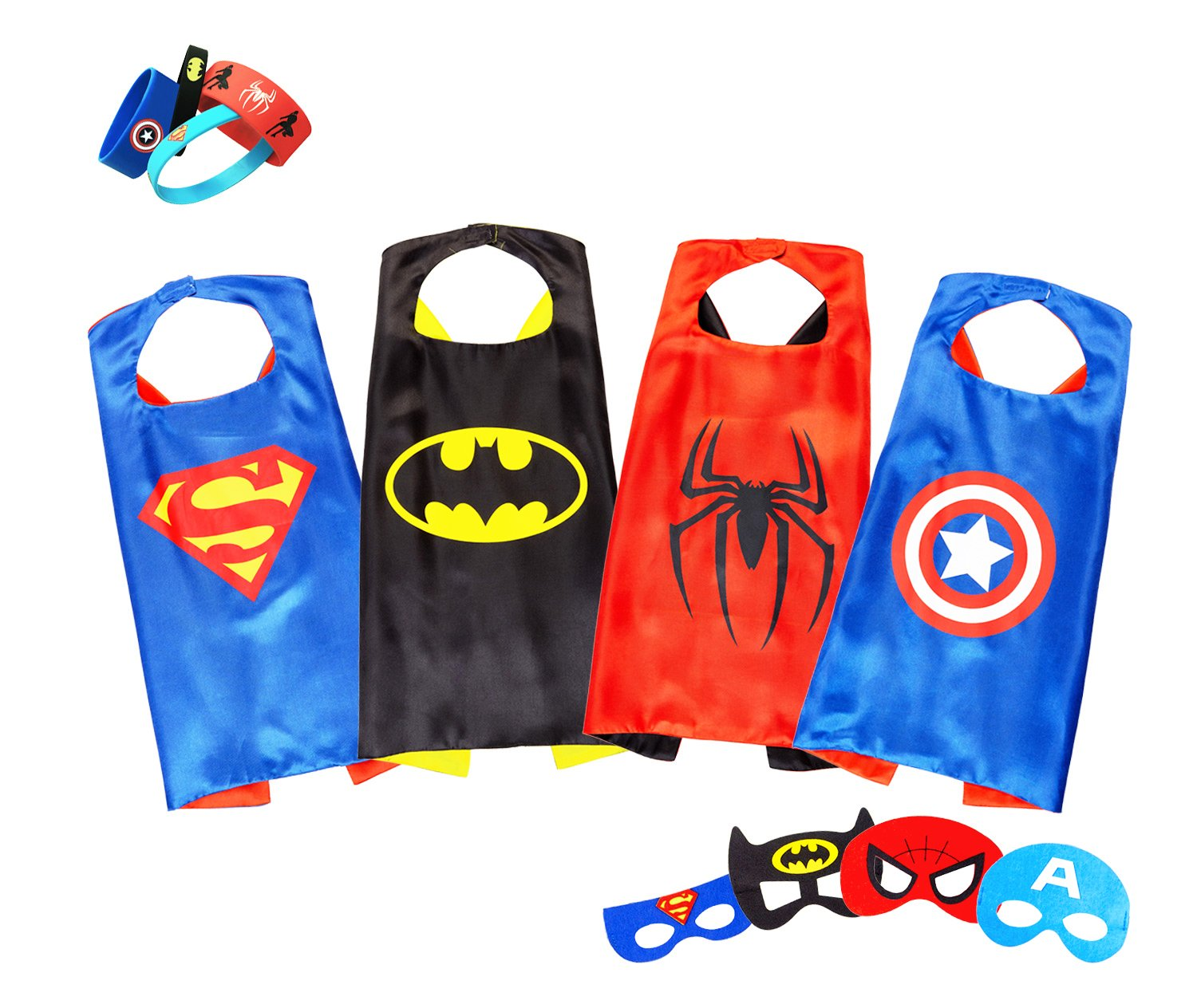 Superhero Capes Masks Dress Up Costumes Adult Teen Kids Boys Girls Party Favors