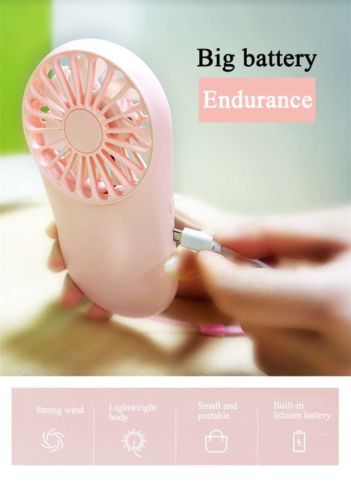 Portable travel office air cooling battery charge usb rechargeable handheld pocket mini fan