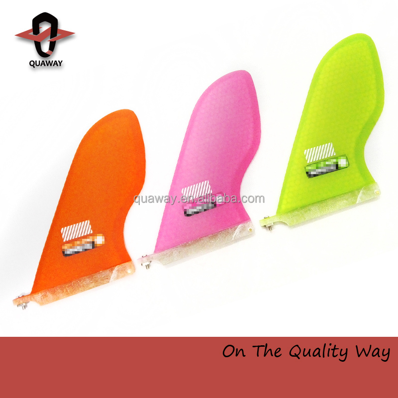 2017 Top selling honey comb longboard fin single fin for sup