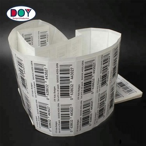 Cheap Private Customized Printing Adhesive Paper Commercial Barcode Shipping Stickers Labels