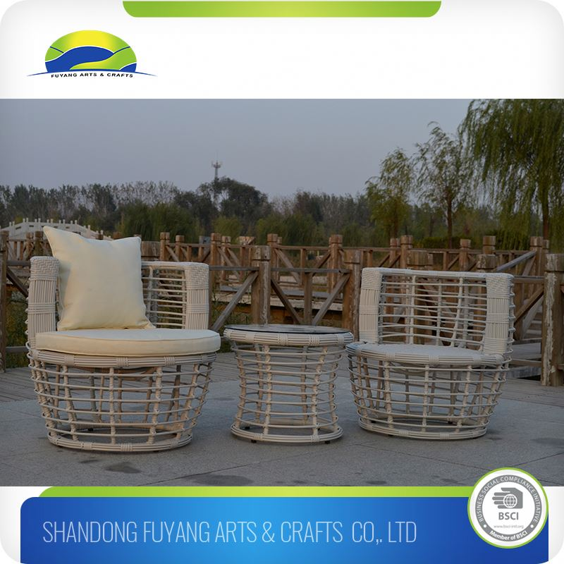 Factory Directly Swimming Pool Armed Rattan Chair And Coffee Tables Design