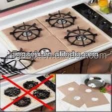 Non stick gas stovetop under burner protector
