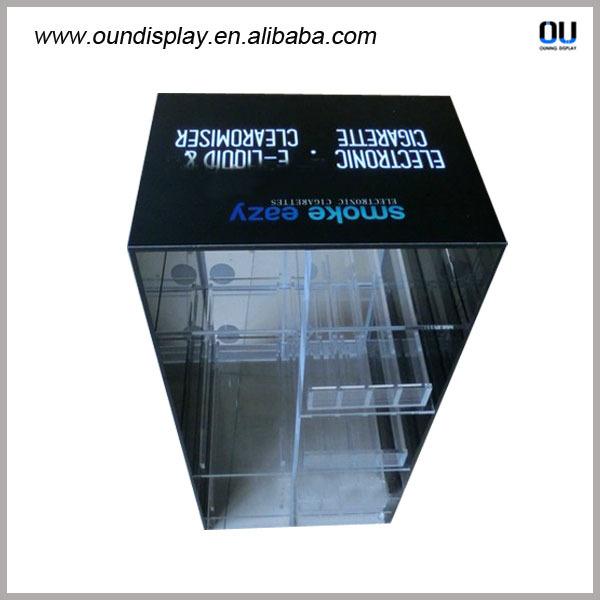 Perfect e-liquid juice led wall mounted acrylic display box led  VO31