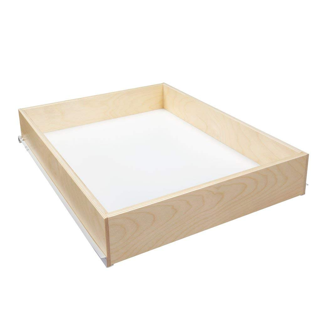 """Sliding Pull-Out Shelf For Cabinets (Kitchen Replacement, Pantry Drawers, etc.) - 3 1/2"""" Tall - 21 3/4"""" Deep - Includes 3/4 Slides & Base Mounting (24.125"""" (1/8))"""