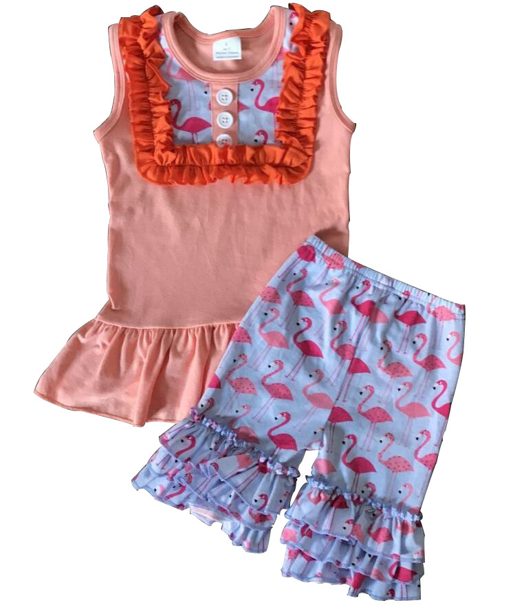 animal ruffle trendy jogging clothes bulk wholesale kids