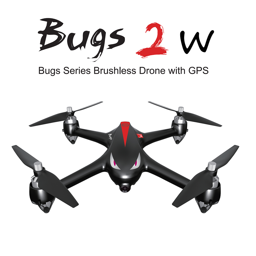 MJX B2W Bugs 2W 2.4G 6-Axis Gyro Brushless Motor Independent ESC 1080P Camera Drone WiFi FPV GPS RC Quadcopter